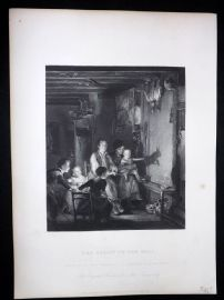 After David Wilkie C1870 Antique Print. The Rabbit on the Wall